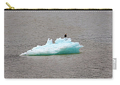 Bald Eagle On Blue Glacial Ice Carry-all Pouch