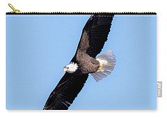 Bald Eagle Overhead  Carry-all Pouch by Ricky L Jones