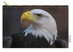 Carry-all Pouch featuring the digital art Bald Eagle Painting by Chris Flees