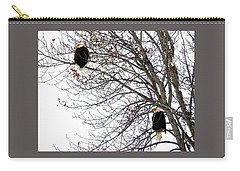 Bald Eagle Pair Carry-all Pouch by Will Borden