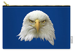 Carry-all Pouch featuring the photograph Bald Eagle by Shane Bechler