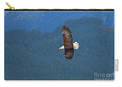 Carry-all Pouch featuring the photograph Bald Eagle Soaring  by Sharon Talson