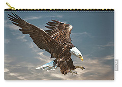 Bald Eagle Swooping Carry-all Pouch by Brian Tarr