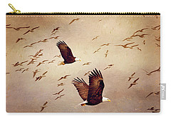 Bald Eagles And Seagulls Carry-all Pouch