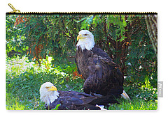 Bald Eagles Carry-all Pouch by Michael Rucker