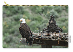 Bald Eaglet Cooling Off On A Hot Spring Day Carry-all Pouch