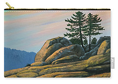 Carry-all Pouch featuring the painting Bald Rock At Sunset by Frank Wilson
