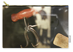Carry-all Pouch featuring the photograph Bale Hooks by Miroslava Jurcik