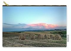 Bales And Sunset Carry-all Pouch