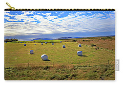 Bales Of Hay For The Animals Near Reykjavik, Iceland Carry-all Pouch by Allan Levin