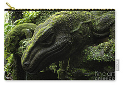 Bali Indonesia Lizard Sculpture Carry-all Pouch by Bob Christopher