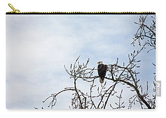 Carry-all Pouch featuring the photograph Balk Eagle by Rebecca Cozart