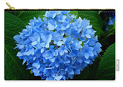 Carry-all Pouch featuring the photograph Ball Of Blue by Michiale Schneider