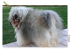 Carry-all Pouch featuring the photograph ball of fur Havanese dog by Sally Weigand