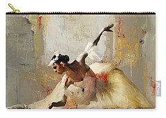 Ballerina Dance On The Floor 01 Carry-all Pouch by Gull G