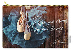 Ballerina Dreams Quote Carry-all Pouch