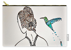 Ballerina  Hummingbird Love Carry-all Pouch