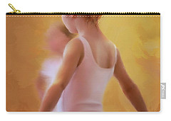Ballerina In Pink Carry-all Pouch by Colleen Taylor