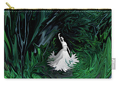 Carry-all Pouch featuring the photograph Ballerina In Wonderland by Rebecca Margraf