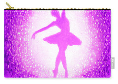 Ballerina Purple And Pink Carry-all Pouch