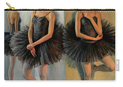 Ballerinas In Black Tutu Carry-all Pouch