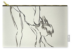 Ballet Dancer Bending And Stretching Carry-all Pouch
