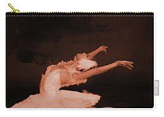Ballet Dancer In White 01 Carry-all Pouch by Gull G