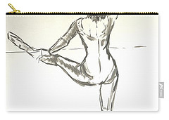 Ballet Dancer With Left Leg On Bar Carry-all Pouch