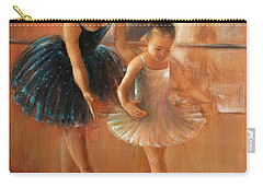 ballet lesson-painting on leather by Vali Irina Ciobanu  Carry-all Pouch