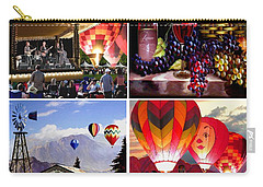 Balloon And Wine Gallery Carry-all Pouch by Ron Chambers
