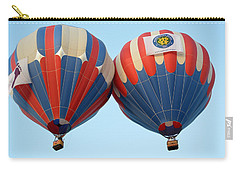 Carry-all Pouch featuring the photograph Balloon Bump by AJ Schibig