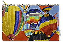 Carry-all Pouch featuring the painting Balloon Expedition by Donna Blossom