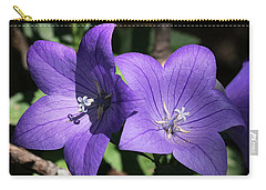 Carry-all Pouch featuring the photograph Balloon Flowers by Sheila Brown