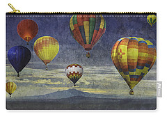 Carry-all Pouch featuring the photograph Balloons Over Sister Mountains by Melinda Ledsome