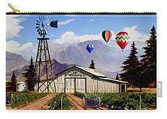 Balloons Over The Winery 1 Carry-all Pouch by Ron Chambers