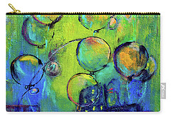 Cheerful Balloons Over City Carry-all Pouch