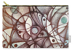 Ballpoint On Canvas  Carry-all Pouch by Jack Dillhunt