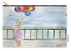 Baloons Carry-all Pouch by P J Lewis