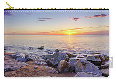 Carry-all Pouch featuring the photograph Baltic Sunrise by Dmytro Korol