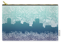 Carry-all Pouch featuring the painting Baltimore City Skyline Map 2 by Bekim Art