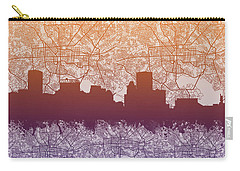 Carry-all Pouch featuring the painting Baltimore City Skyline Map by Bekim Art