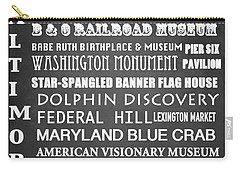 Baltimore Famous Landmarks Carry-all Pouch