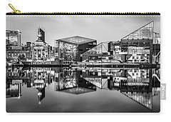Baltimore In Black And White Carry-all Pouch
