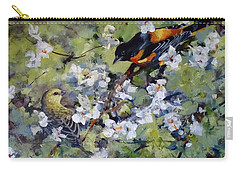 Baltimore Oriole Carry-all Pouch by Sandra Strohschein
