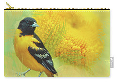 Carry-all Pouch featuring the photograph Baltimore Oriole Watercolor Photo by Heidi Hermes