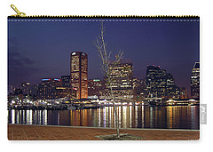 Carry-all Pouch featuring the photograph Baltimore Reflections by Brian Wallace