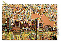 Baltimore Skyline Abstract 2 Carry-all Pouch by Bekim Art