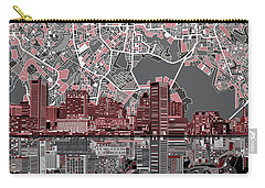 Baltimore Skyline Abstract Carry-all Pouch
