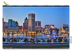Baltimore Skyline Inner Harbor Panorama At Dusk Carry-all Pouch