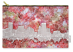 Carry-all Pouch featuring the painting Baltimore Skyline Watercolor 13 by Bekim Art